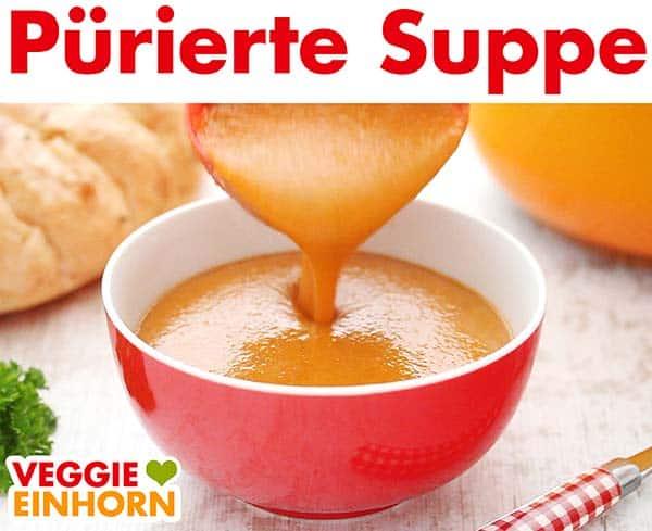 Pürierte Suppe wird serviert