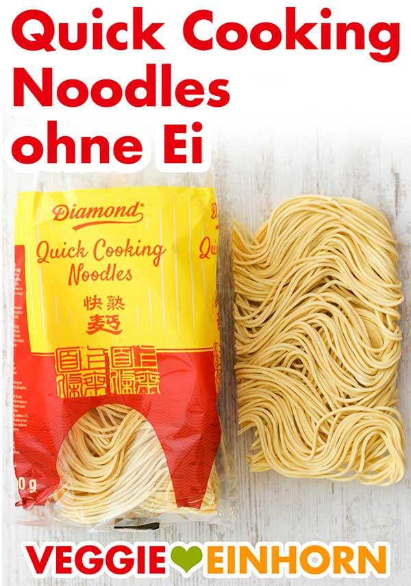 Eine Packung Quick Cooking Noodles ohne Ei