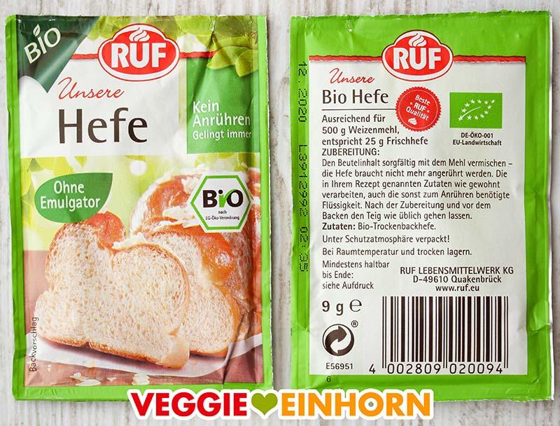 Päckchen Bio-Trockenbackhefe von RUF