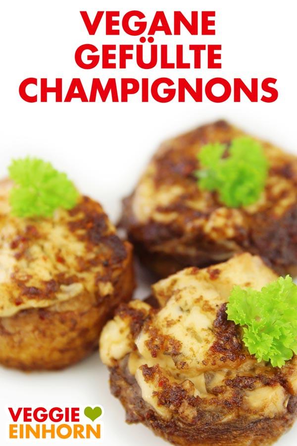 Vegane gefüllte Champignons mit Frischkäse | Einfaches leckeres Rezept | Veganes Fingerfood | Party Rezept vegan | Einfach vegan kochen | Vegane Rezepte deutsch mit Schritt für Schritt Fotos und VIDEO #VeggieEinhorn