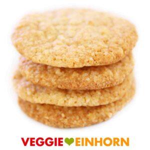 Schnelle VEGANE KEKSE | Leckere Mandel-Haferflocken-Cookies | Super lecker und super einfach | Rezept mit Schritt-für-Schritt Foto-Anleitung und VIDEO