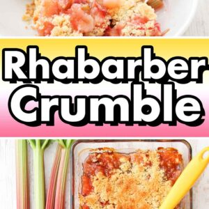 Crumble mit Rhabarber