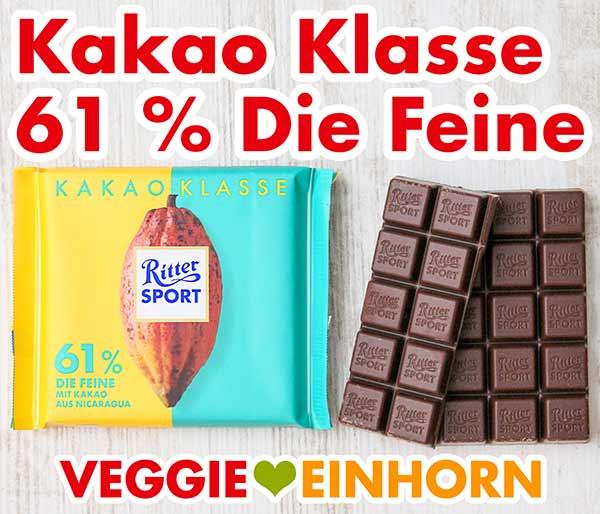 Ritter Sport Kakao Klasse 61 % Die Feine