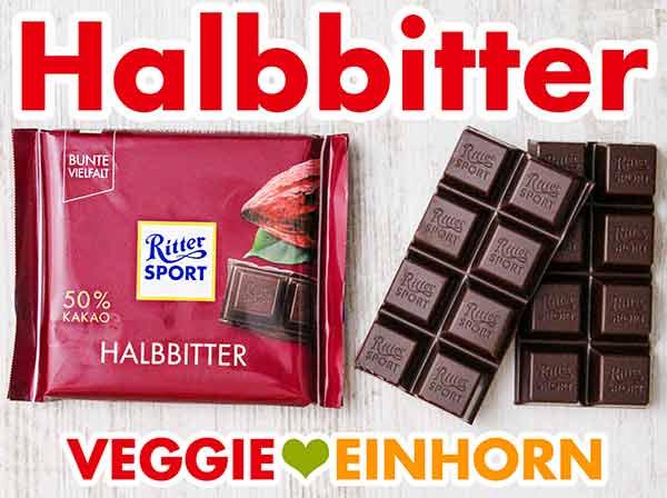 Vegane Halbbitter Schokolade von Ritter Sport