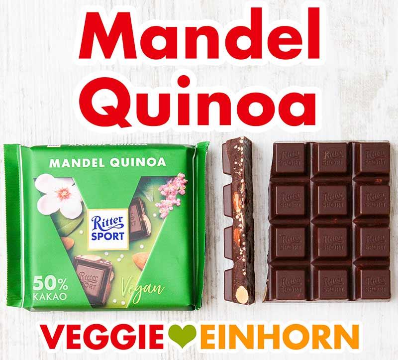Vegane Mandel Quinoa Schokolade von Ritter Sport