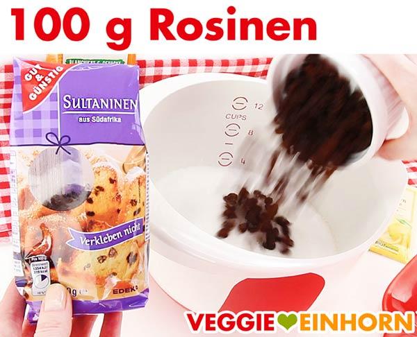 Rosinen für veganen Stollen