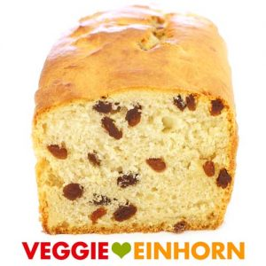 Veganer Rosinenstuten saftig | Rosinenbrot backen ohne Ei mit Kokosmilch