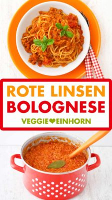Rote Linsen Bolognese Pinterest