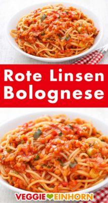 Rote Linsenbolognese Pinterest