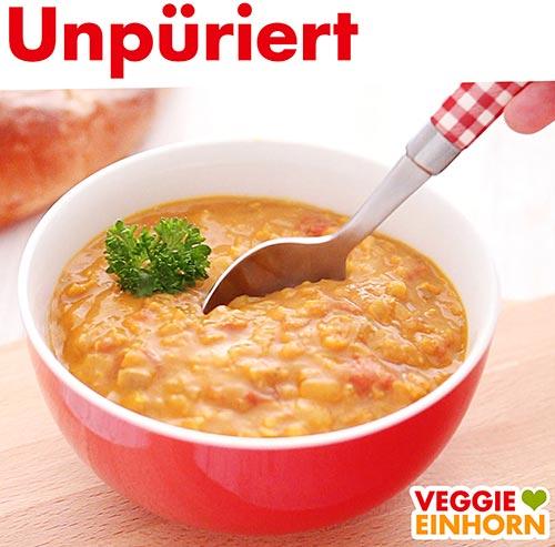Unpürierte Suppe