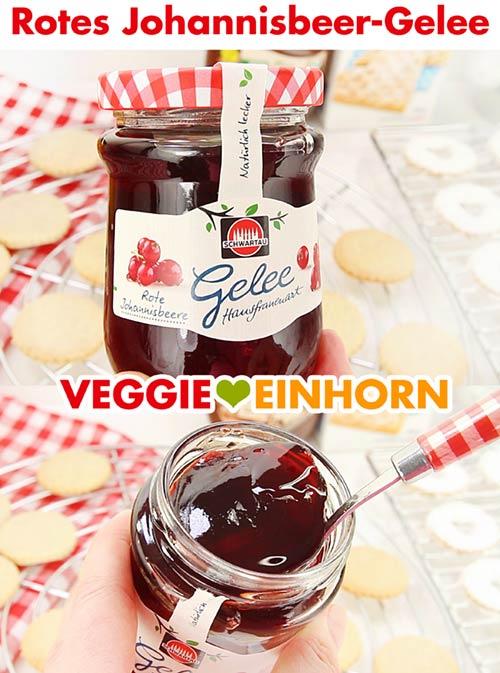 Rotes Johannisbeergelee zum füllen von veganen Spitzbuben