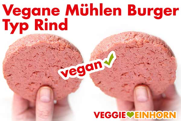 Rohe Vegane Mühlen Burger Patties