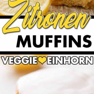 Zitronenmuffins und Zitronenscheiben
