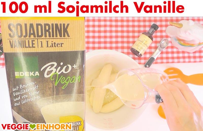 Saftiges veganes Bananenbrot | Einfaches Rezept | Schritt für Schritt Fotos | Sojamilch Vanille