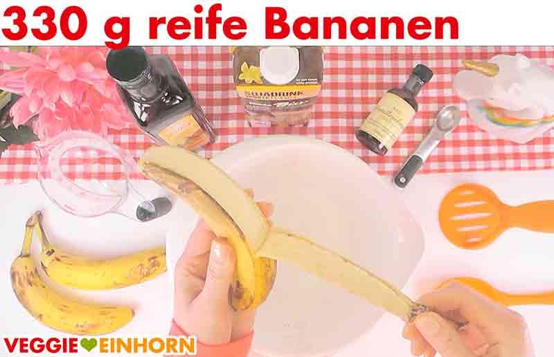 Saftiges veganes Bananenbrot | Einfaches Rezept | Schritt für Schritt Fotos | reife Bananen