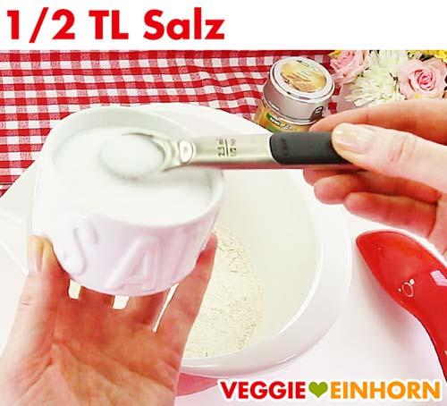 Salz für Zucchinibrot