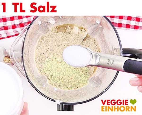 Salz für vegane Sahnesoße