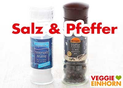 Salz und Pfeffer aus der Mühle