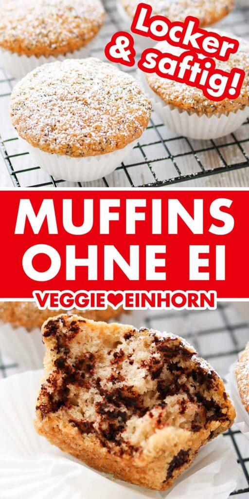 Ein Abkühlgitter mit Muffins ohne Ei