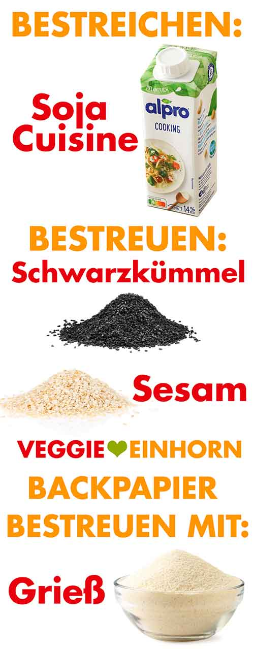 Soja Cuisine, Schwarzkümmel, Sesam und Grieß