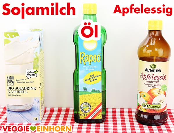 Sojamilch Rapsöl Apfelessig