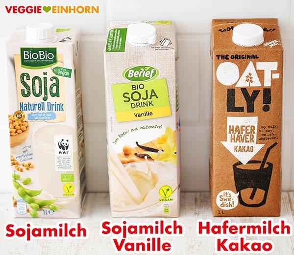 Sojamilch natur, Soja Drink Vanille, Oatly Hafermilch Kakao