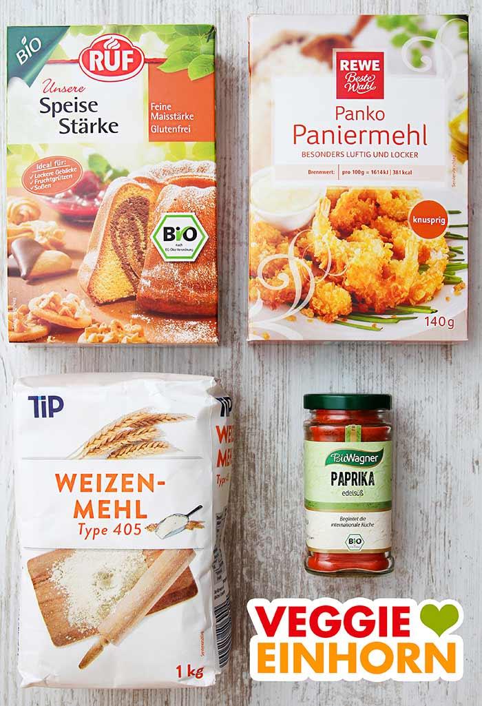 Speisestärke, Pankomehl, Mehl, Paprika edelsüß
