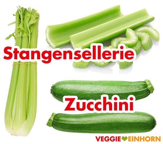 Stangensellerie, Zucchini