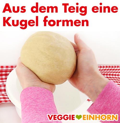 Teigkugel formen für vegane Nussecken