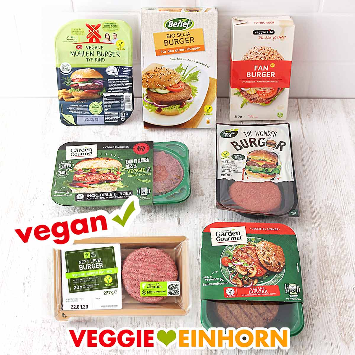 Test Burger Patties vegan