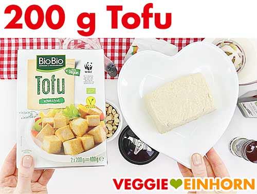 Ganz normaler Tofu für veganes Tzatziki