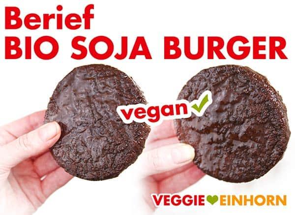 Ungebratener Soja Burger Patty von Berief