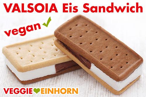 Vegane Eis Sandwiches von Valsoia