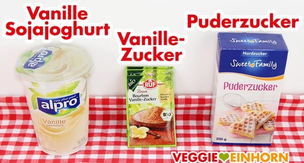 Vanille-Sojajoghurt Vanillezucker Puderzucker
