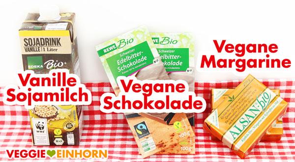 Vanille-Sojamilch - Vegane Schokolade - Vegane Margarine