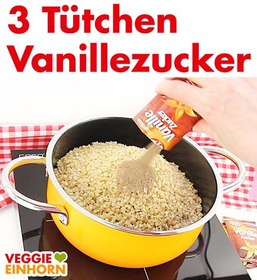 Vanillezucker für Nussecken Belag