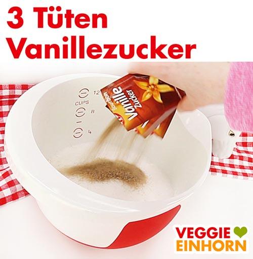 Vanillezucker für Nussecken Teig
