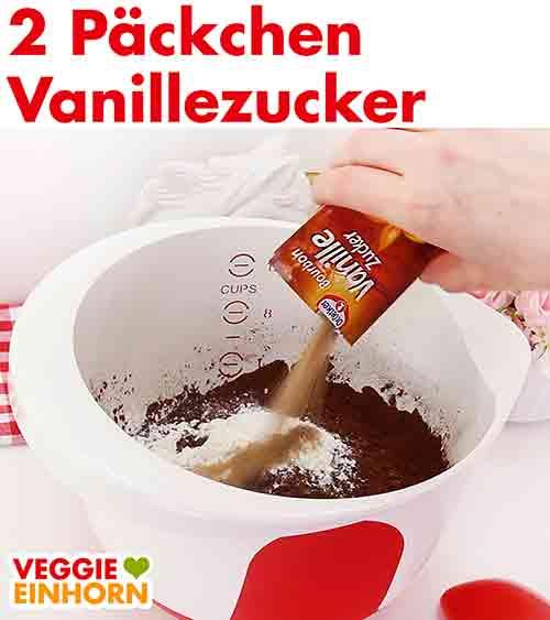 Vanillezucker zufügen.