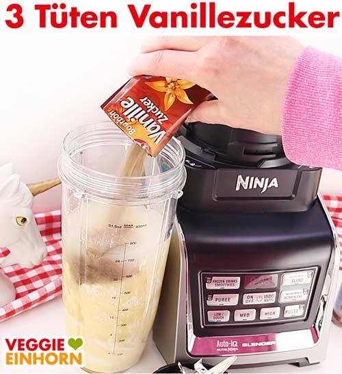 Vanillezucker wird zugefügt