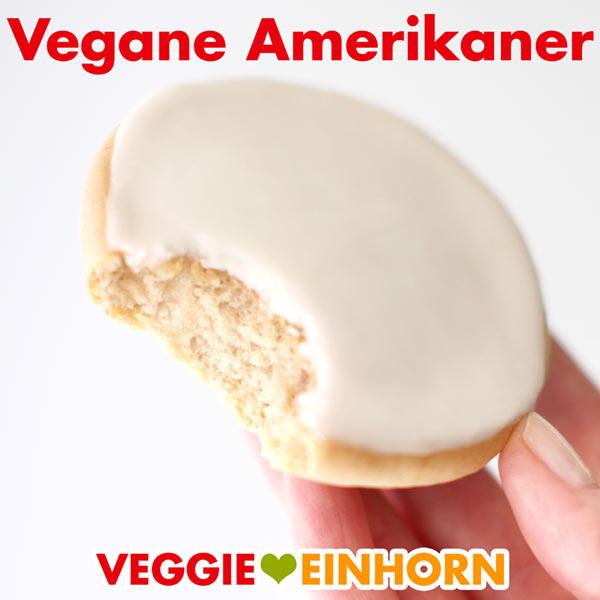 Vegane Amerikaner mit Zuckerguss