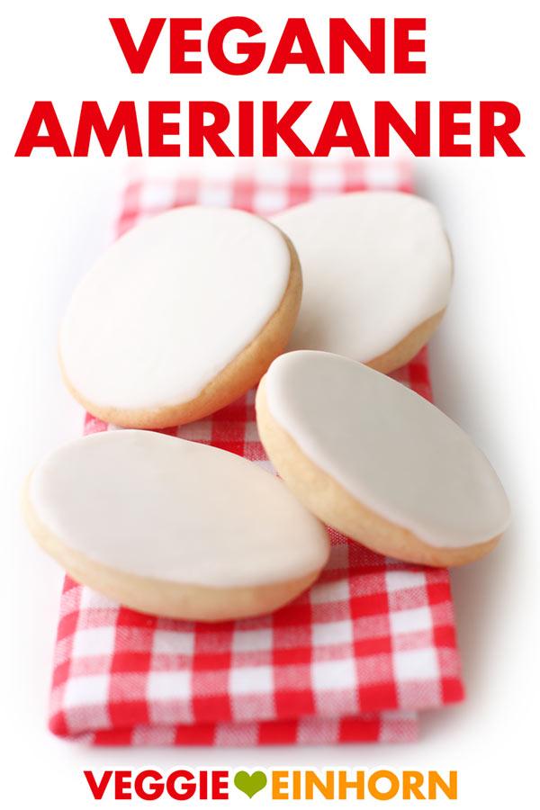 Vegane Amerikaner einfach selber backen. Leckeres Rezept für Amerikaner ohne Ei, ohne Milch, ohne Butter (laktosefrei). Perfekt zum Geburtstag, zum Kaffee, sehr beliebt bei Kindern. #VeggieEinhorn