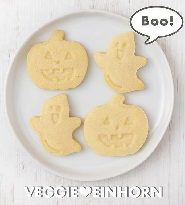 Vegane Ausstecher Plätzchen für Halloween