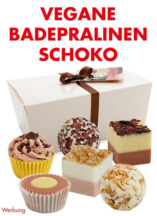 Vegane Badepralinen Geschenbox Schoko