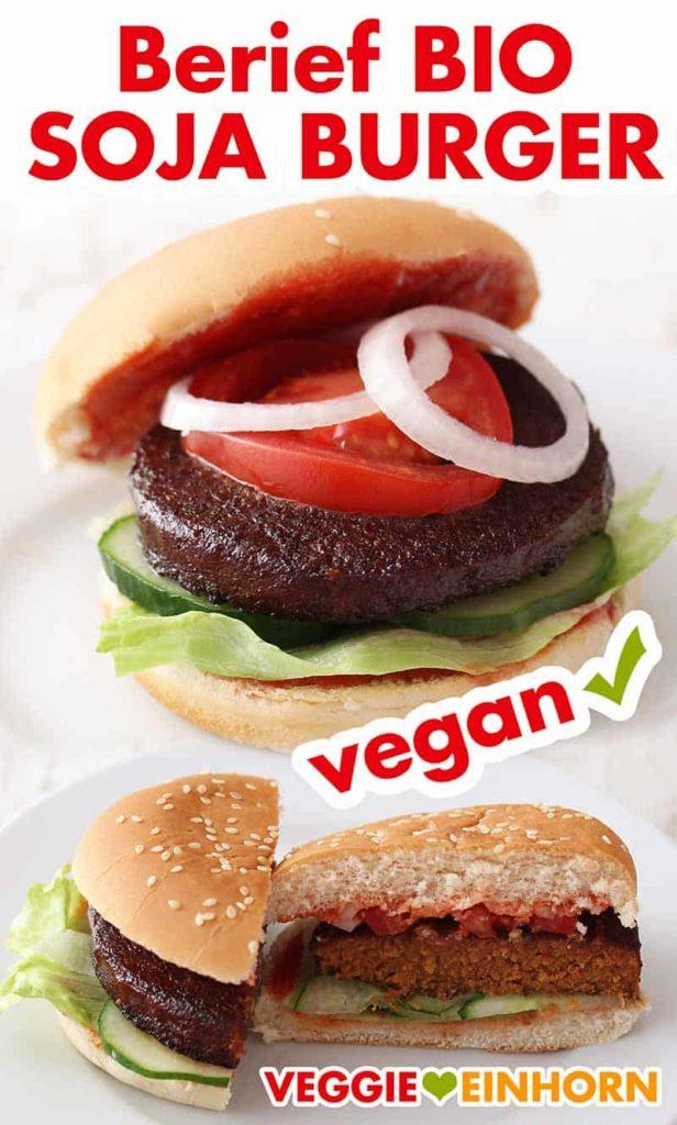 Vegane Bio Soja Patties von Berief im Burger