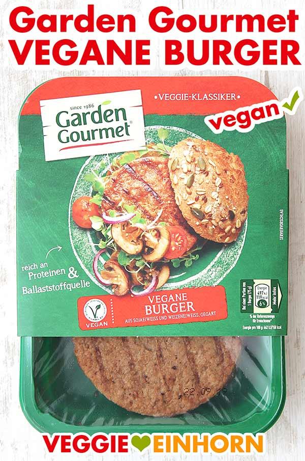 Eine Packung Garden Gourmet Vegane Burger