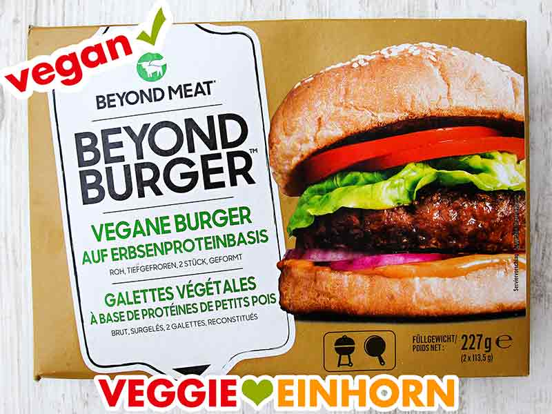 Eine Packung vegane Burger Patties von Beyond Meat