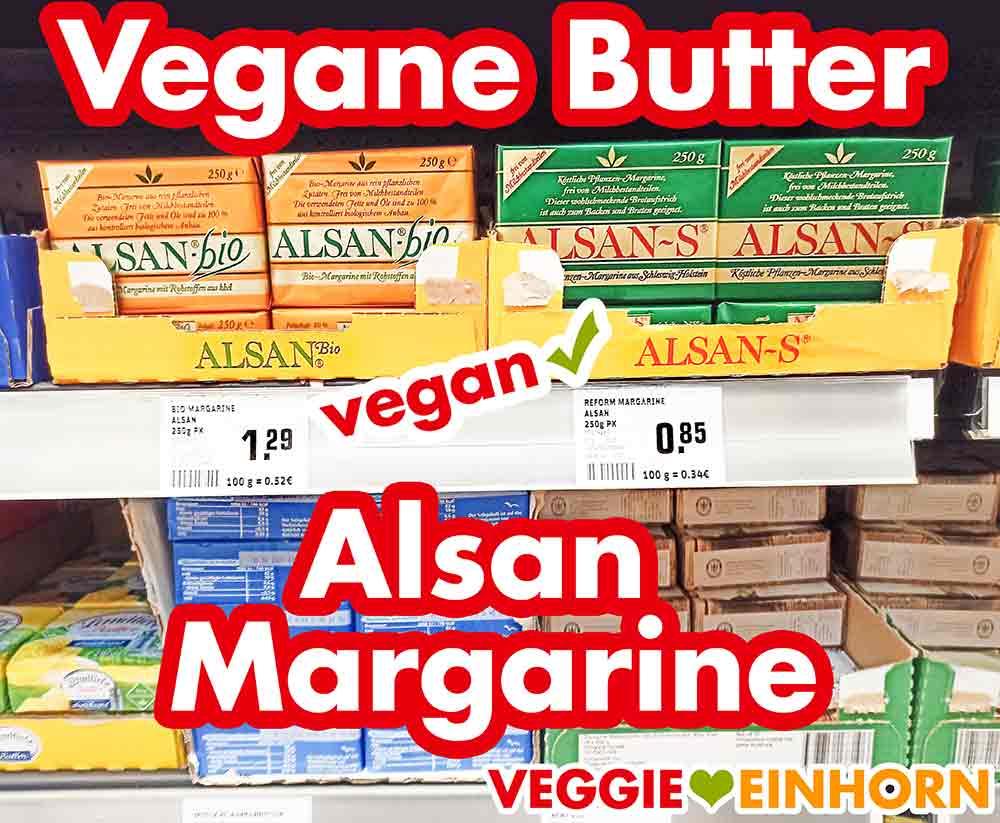 Alsan Bio Margarine und Alsan-S im Supermarkt Regal