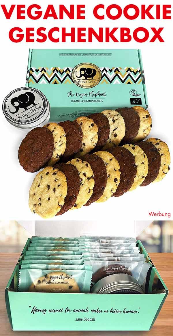 Geschenkbox mit veganen Bio Cookies