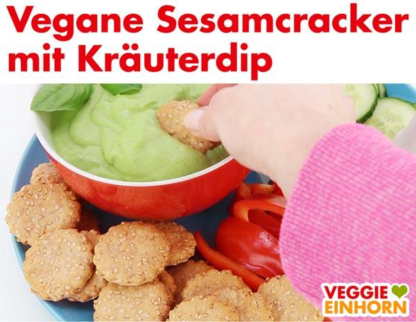 Vegane Cracker mit Dip