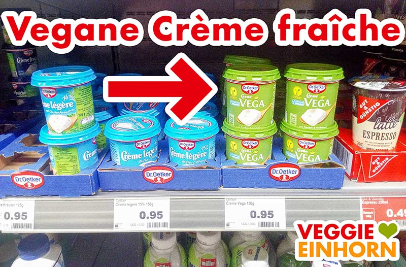 Vegane Crème fraîche im Supermarkt